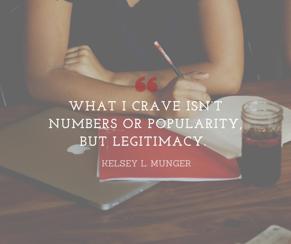 What I crave isn't numbers or popularity, but legitimacy (2)